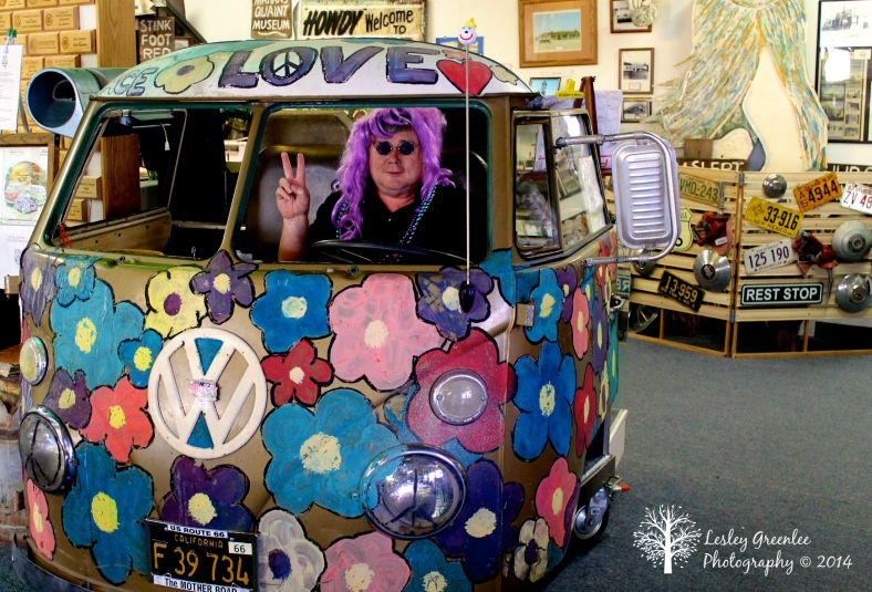 Hippie Hubby in the Peacemobile