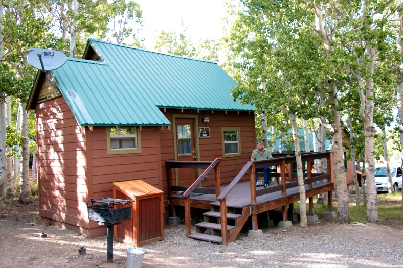 Our cabin at Convict Lake